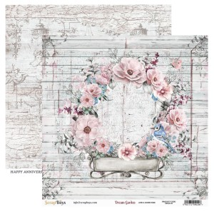 Papier ScrapBoys 30,5x30,5 Dream Garden DRGA-03