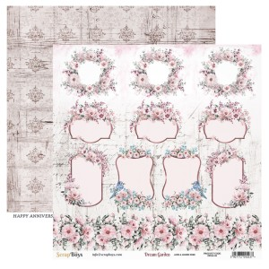 Papier ScrapBoys 30,5x30,5 Dream Garden DRGA-06