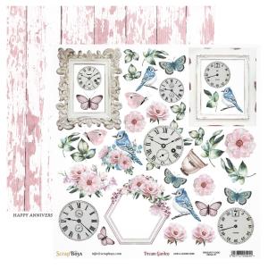 Papier ScrapBoys 30,5x30,5 Dream Garden DRGA-07 elementy