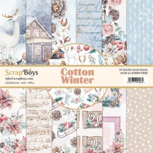 Papier ScrapBoys 15x15 Cotton Winter bloczek