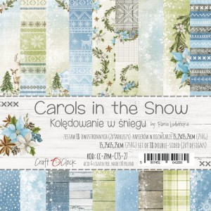 Papier scrap Craft O'Clock 15*15 Carols in the Snow Zestaw