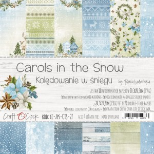 Papier scrap Craft O'Clock 20,3*20,3 Carols in the Snow Zestaw