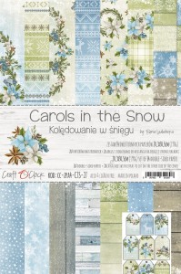 Papier scrap Craft O'Clock 20,3*30,5 Carols in the Snow Zestaw