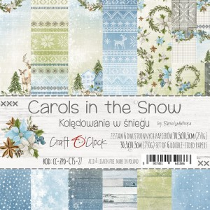 Papier scrap Craft O'Clock 30,5*30,5 Carols in the Snow Zestaw