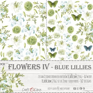 Craft O'Clock Dodatki - Flowers IV - Blue Lillies