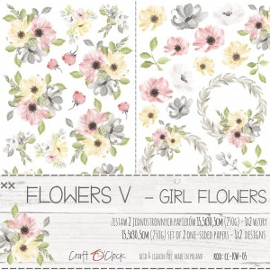 Craft O'Clock Dodatki - Flowers V - Girl Flowers
