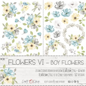 Craft O'Clock Dodatki - Flowers VI - Boy Flowers