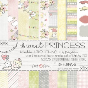 Papier scrap Craft O'Clock 15*15 Sweet Princess Zestaw