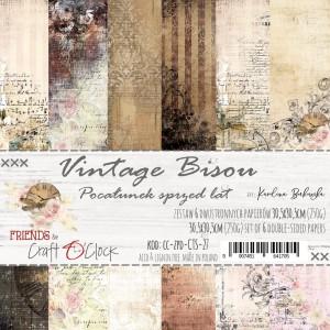 Papier scrap Craft O'Clock Friends 30,5*30,5 Vintage Bisou Zestaw