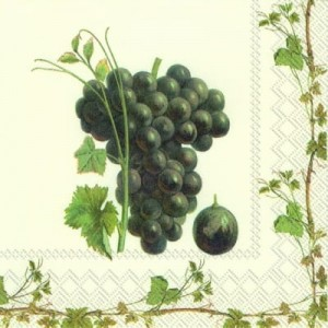 SERWETKA LUZ 25*25 IHR 608000 GRAPE HARVEST RED