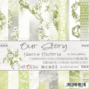 Papier scrap Craft O'Clock 15*15 Our Story Zestaw