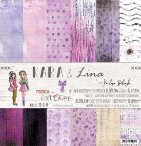 Papier scrap Craft O'Clock Friends 30,5*30,5 KARA & Lina Zestaw