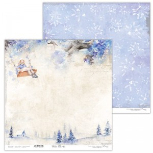 Papier scrap Lexi design 30,5*30,5 Winter Tales 01