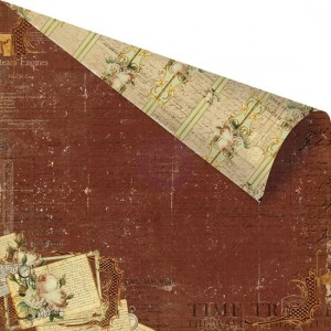 PAPIER SCRAP PRIMA 30,5*30,5 TIME TRAVELER-813901 The Traveler