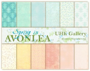 Papier scrap UHK 30,5*30,5 Avonlea Day by Day Spring a'6szt