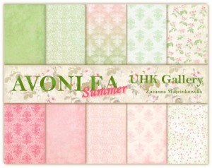 Papier scrap UHK 30,5*30,5 Avonlea Day by Day Summer a'5szt