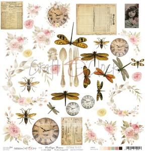 Papier scrap Craft O'Clock Friends Dodatki -  Vintage Bisou
