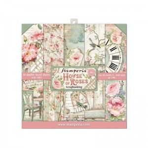 Papier scrap Stamperia 20,3*20,3 190g a'10 SBBS08 House of Roses