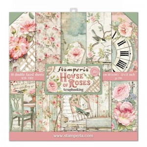 Papier scrap Stamperia 30,5*30,5 170g A'10 SBBL66 House of Roses