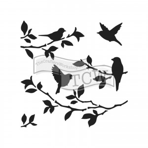 SZABLON-MASKA TCW 15*15 TCW713s MINI BIRDS ON BRANCHES