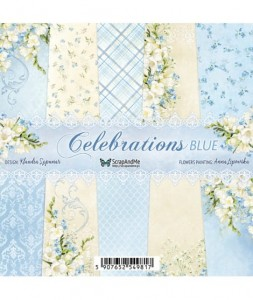 Papier ScrapAndMe 15x15 Celebrations Blue Bloczek