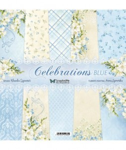 Papier ScrapAndMe 30x30 Celebrations Blue Zestaw