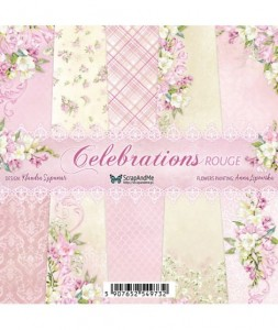 Papier ScrapAndMe 15x15 Celebrations Rouge Bloczek