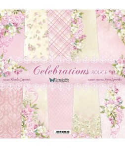 Papier ScrapAndMe 30x30 Celebrations Rouge Zestaw