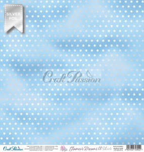 PAPIER SCRAP Craft Passion 30,5*30,5 GLAMOUR DREAMS 01 SILVER