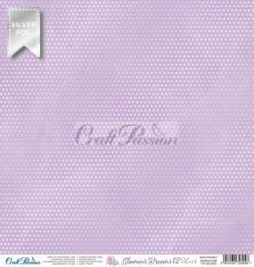 PAPIER SCRAP Craft Passion 30,5*30,5 GLAMOUR DREAMS 02 SILVER