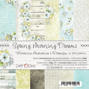 Papier scrap Craft O'Clock 15*15 Spring Morning Dreams Zestaw