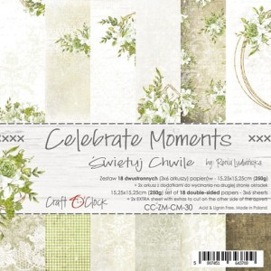 Papier scrap Craft O'Clock 15*15 Celebrate Moments Zestaw