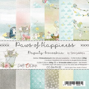 Papier scrap Craft O'Clock 15*15 Paws of Happiness Zestaw