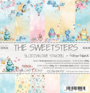 Papier scrap Craft O'Clock 15*15 F10 The Sweetsters Zestaw