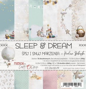 Papier scrap Craft O'Clock 15*15 F09 Sleep&Dream Zestaw