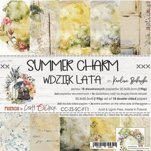 Papier scrap Craft O'Clock 20,3*20,3 Summer Charm Zestaw