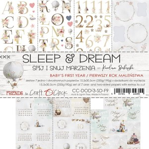 Papier scrap Craft O'Clock Dodatki - Sleep&Dream III zestaw