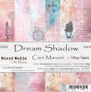 Papier scrap Craft O'Clock 15*15 Dream Shadow Zestaw