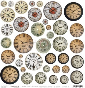 Craft O'Clock Dodatki - Mixed Media III Clocks / Zegary
