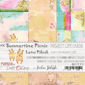 Craft O'Clock karty Project Life - Summertime Picnic