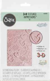 FOLDER DO EMBOSSINGU SIZZIX 3D 663628 HEARTS