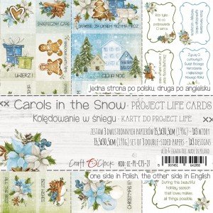 Craft O'Clock karty Project Life - Carols in the Snow