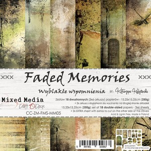Papier scrap Craft O'Clock 15*15 Faded Memories Zestaw