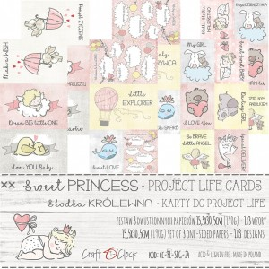 Craft O'Clock karty Project Life - Sweet Princess