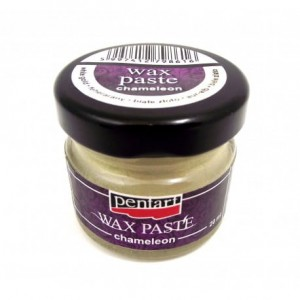 PASTA WOSKOWA PENTART WAX PASTE 20ML CHAMELEON WHITE GOLD