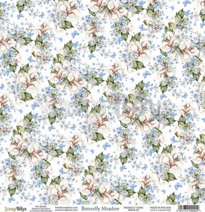 Papier ScrapBoys 30,5x30,5 Butterfly Meadow 01