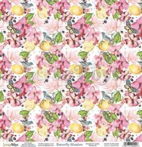 Papier ScrapBoys 30,5x30,5 Butterfly Meadow 03