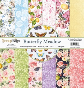 Papier ScrapBoys 30,5x30,5 Butterfly Meadow zestaw