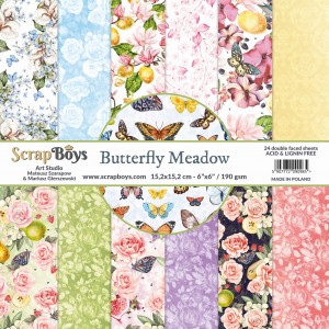 Papier ScrapBoys 15x15 Butterfly Meadow bloczek