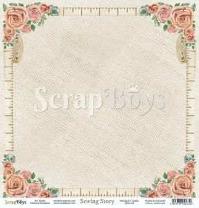 Papier ScrapBoys 30,5x30,5 Sewing Love 04